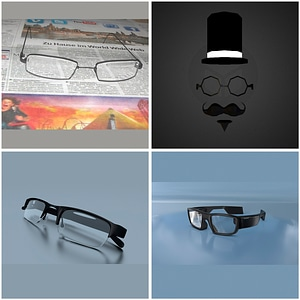 Glasses Set 3D Model