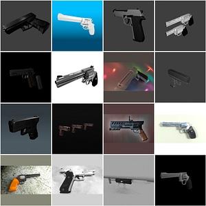 Guns Set 3D Model