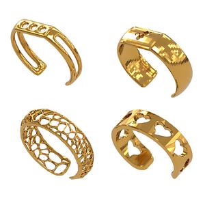 Set Bracelets 3D Model