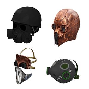 Conjunto de mascaras modelo 3D