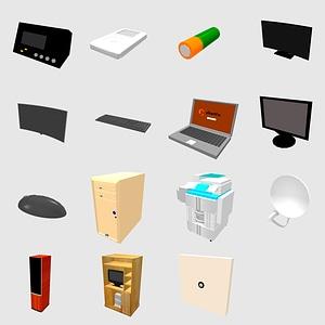 Set of Electronics 3D Model