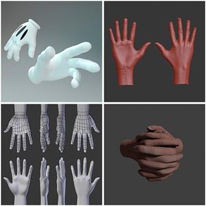 Hands Set 3D Model