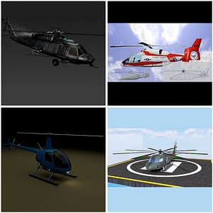 Helicopters Set 3D Model