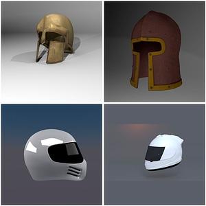 Helmets Set 3D Model