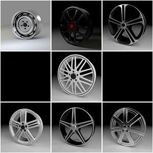 Rims Set 3D Model