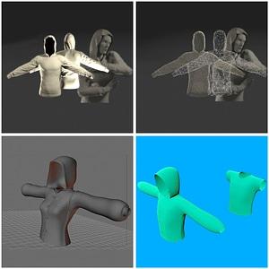 Hoodie Set 3D Model