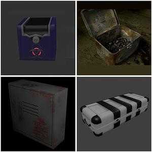 Industrial Boxes 3D Model