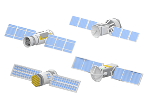 Set of Satellites 3D Model