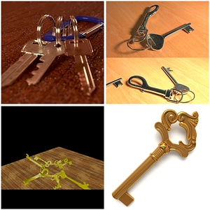 Modelo 3D de Keys