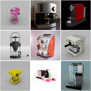 Coffee Machines 3D Model