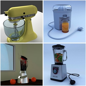 Juicer and Food Mixers 3D Model