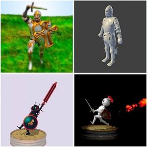 Knights 3D Model