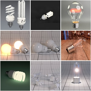 Light Bulbs 3D Model