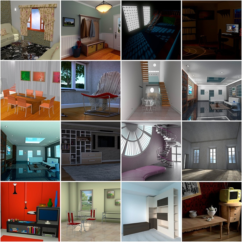 Living Room Interiors 3d Model Free Download Creazilla