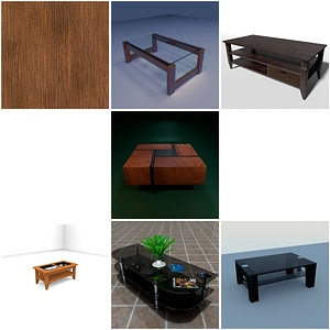 Living Room Coffee Tables 3D Model