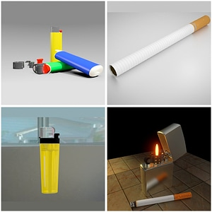 Lighters 3D Model