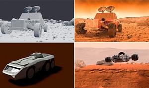 Mars Vehicles 3D Model