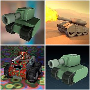Mini Tanks 3D Model