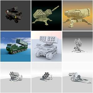 Missile Launchers 3D Model