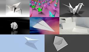 Paper Set modelo 3D