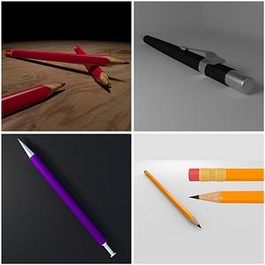 Pencils 3D Model
