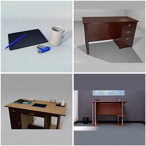 Office Desks 3D Model