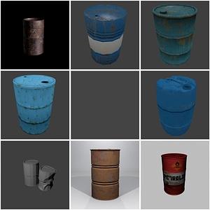 Нефтяные бочки 3D модель
