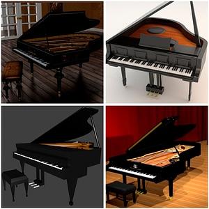 Piano Set 3D Model