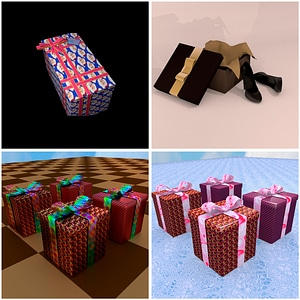 Presents and Gift Boxes 3D Model