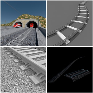 Railway Set 3D Model