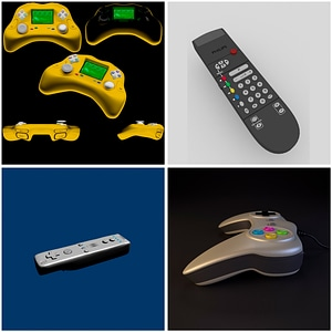 Remote and Game Controllers 3D Model