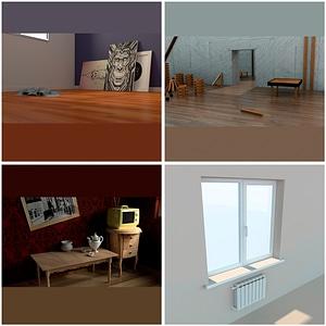 Room Scenes 3D Model