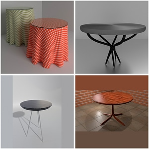 Round Tables 3D Model