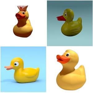 Rubber Ducks 3D Model