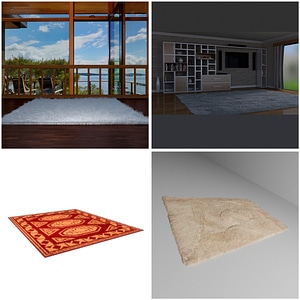 Rugs and Carpets 3D Model