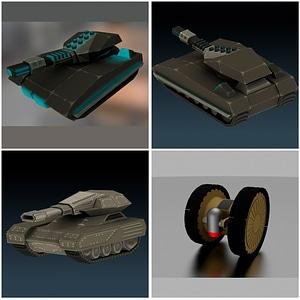 Tanques de ciencia ficción modelo 3D