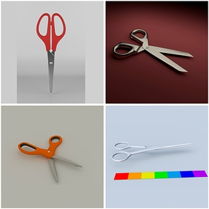 Modelo 3D de Scissors