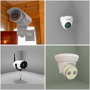 Security Cameras 3D-modell