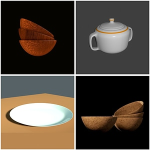 Set of Bowls 3D Model