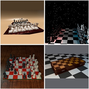 Set of Chess 3D Model
