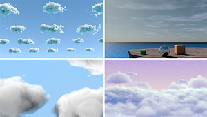 Set of Clouds 3D Model