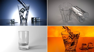 Set of Drinking Glasses 3D Model