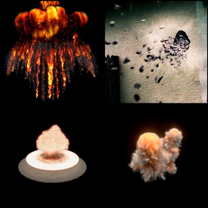 Set of Explosions 3D Model