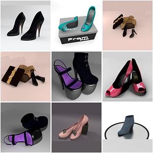 Set of Heels 3D Model