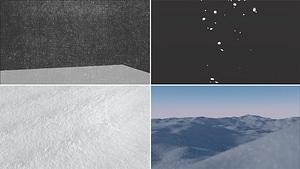 雪のセット3Dモデル