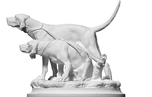 Two Dogs 3D Model