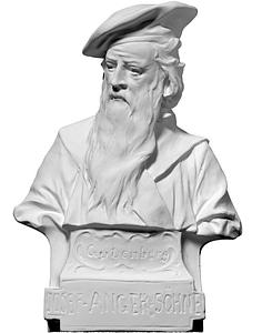 Bust of Gutenberg 3D Model