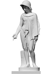 Cupid disguised as a shepherd 3D Model