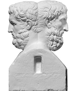 Double Herm with Epicurus and Metrodorus 3D Model