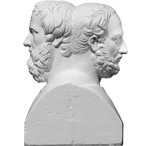 Double Herm with Thucydides and Herodotus 3D Model